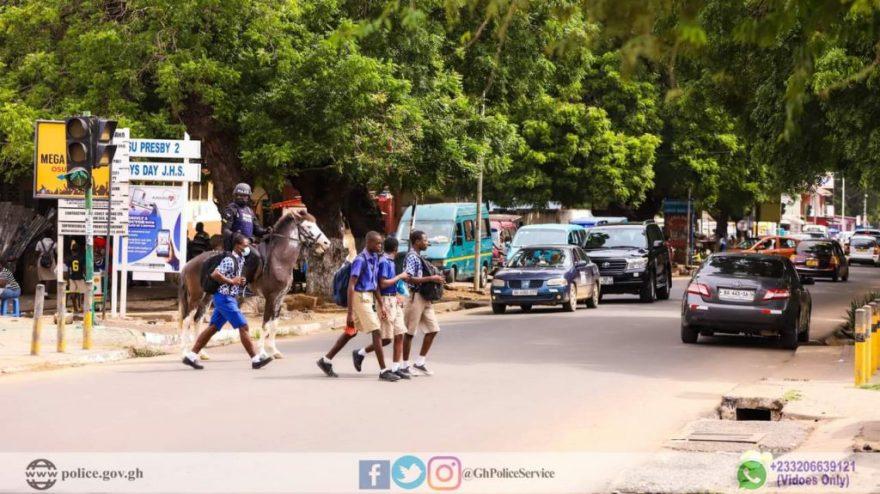 Ghana police Horse Patrols