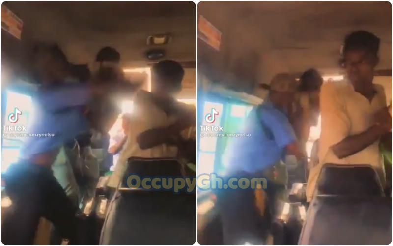 mate fights passenger