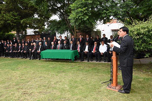 Integrantes de distintas logias se reunieron en Tlaxcala para celebrar el tercer aniversario de la creación de la Muy Respetable Gran Logia del Estado de Tlaxcala. /Jesús LIMA