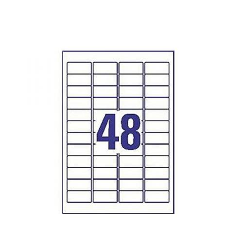 Avery Removable Labels 48 Per Sheet White (Pack of 1200