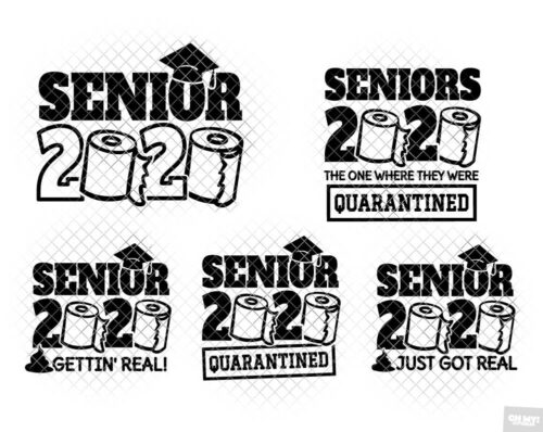 Class Of 2020 Toilet Paper SVG in SVG/DXF/EPS/JPG/PNG