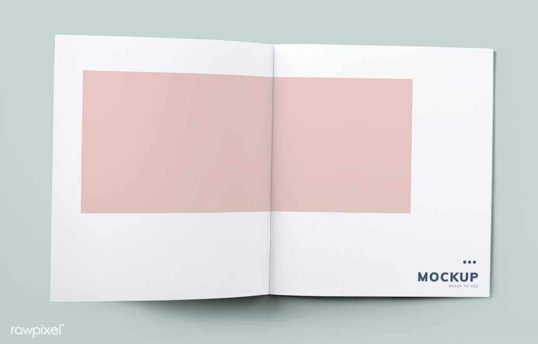 magazine Mockup 1 psd diseño gráfico