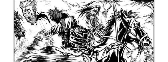 Guerreiros caçam criatura na HQ Vikings: Morte ao Troll