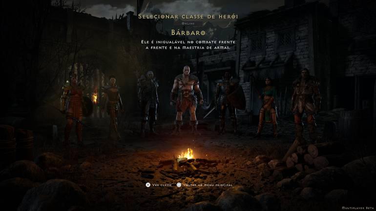 Classes of Diablo II: Resurrected.