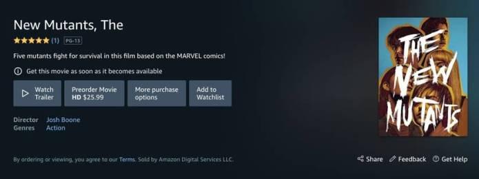 Novos Mutantes aparece em pré-venda digital na Amazon
