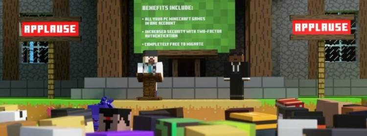 Mojang bittet das Microsoft-Konto um die Anmeldung von Spielern bei Minecraft