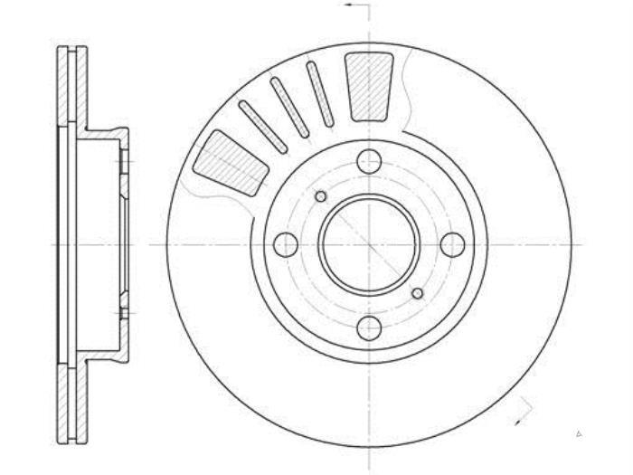 Nieuwe Toyota Starlet (EP9) 1.3,XLi,GLi 16V Remschijf voor