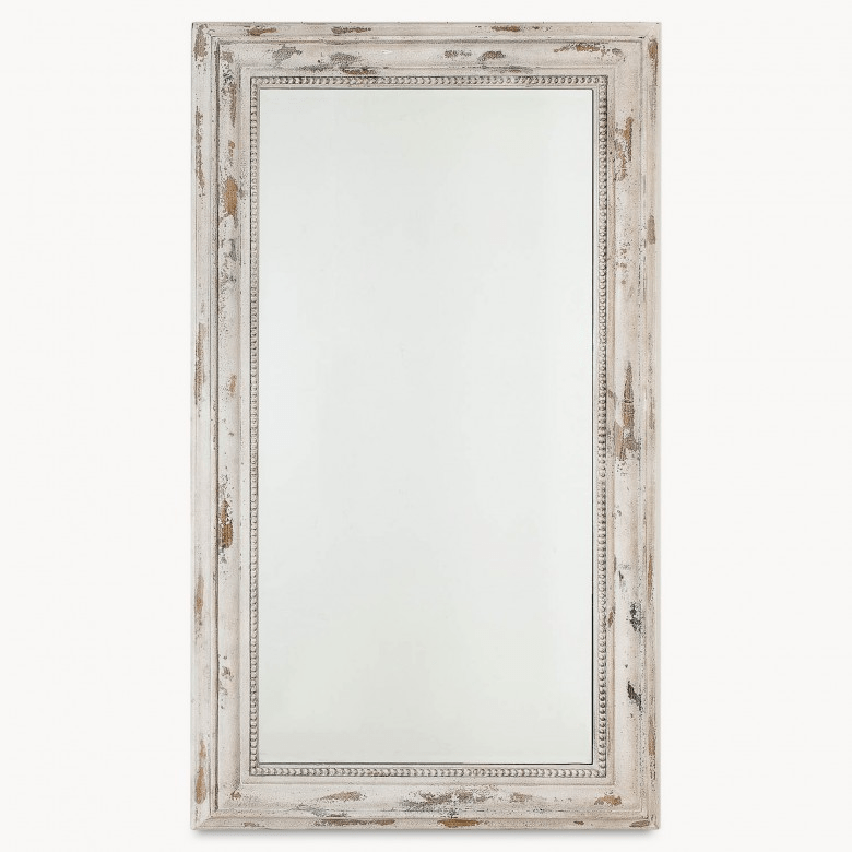 Heathfield Distressed Cream Wash Rectangular Mirror