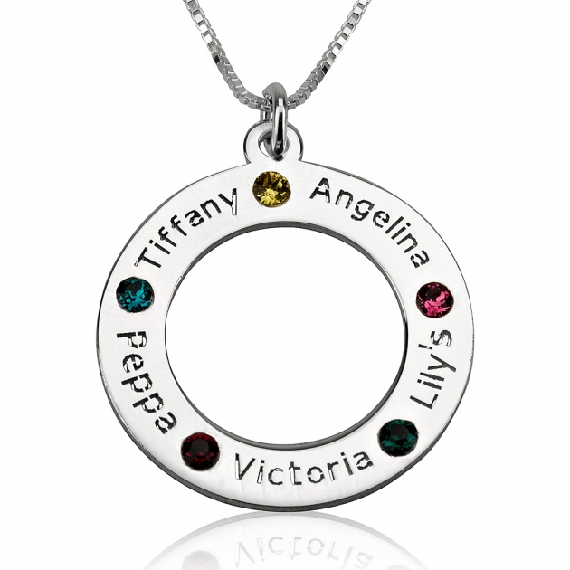 Family Name Birthstone Necklace jewelry ideas for her