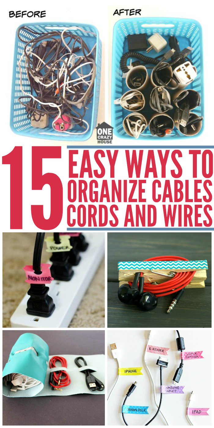 medium resolution of 15 easy ways to organize cables and wires