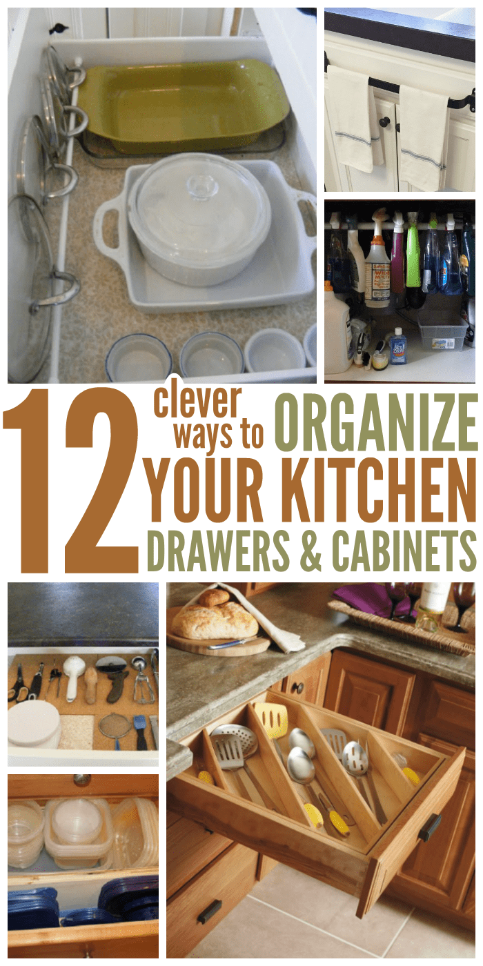 kitchen drawer roman shades how to organize your with 12 clever ideas