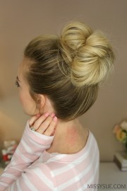 easy bun hairstyles rock