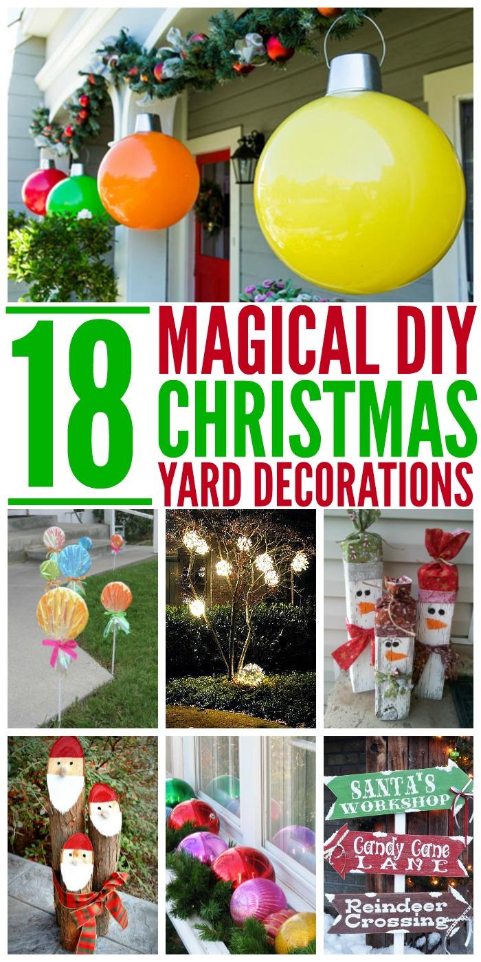 Homemade Christmas Yard Decorations