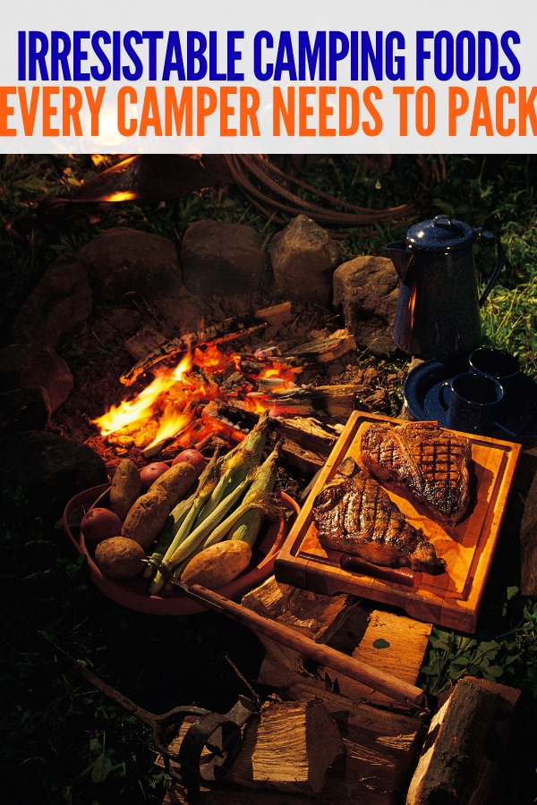 These camping trip food items are a must for your next camping adventure! All you need to do is pack them and you're ready to go! #campingtripfooditems #camping #campfire #onecrazyhouse