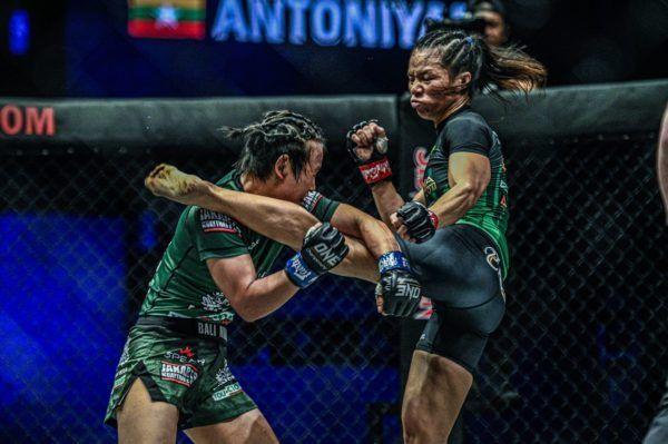 Priscilla Hertati Lumban Gaol defeats Bozhena Antoniyar at ONE DAWN OF VALOR