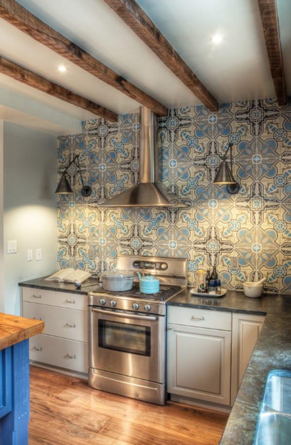 cement tile kitchen brick floor create a decorative backsplash with tiles 01 1 kindesign