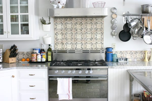 cement tile kitchen table with bench and chairs create a decorative backsplash tiles 07 1 kindesign