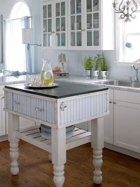 small kitchen with island design ideas 48 Amazing space-saving small kitchen island designs