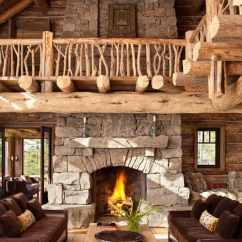 Log Cabin Living Rooms Ideas Navy Blue And Yellow Room Decor 47 Extremely Cozy Rustic Style 25 1 Kindesign