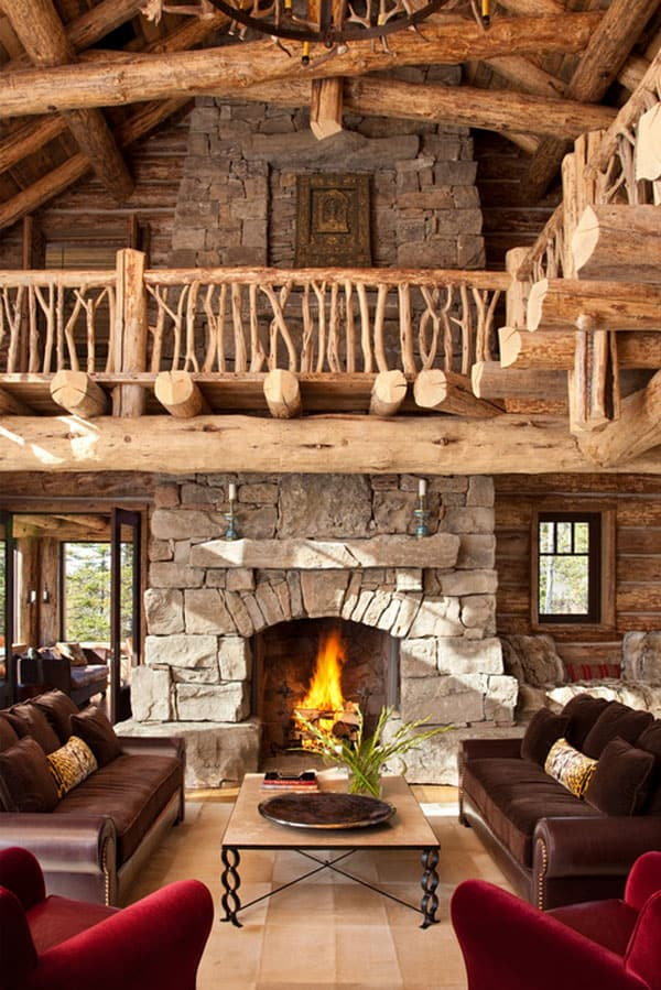 log cabin living room decorating ideas for small rooms with brown furniture 47 extremely cozy and rustic style 25 1 kindesign