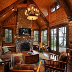 Log Home Living Room Decorating Ideas Paint Color Schemes Kitchen 47 Extremely Cozy And Rustic Cabin Style Rooms 29 1 Kindesign