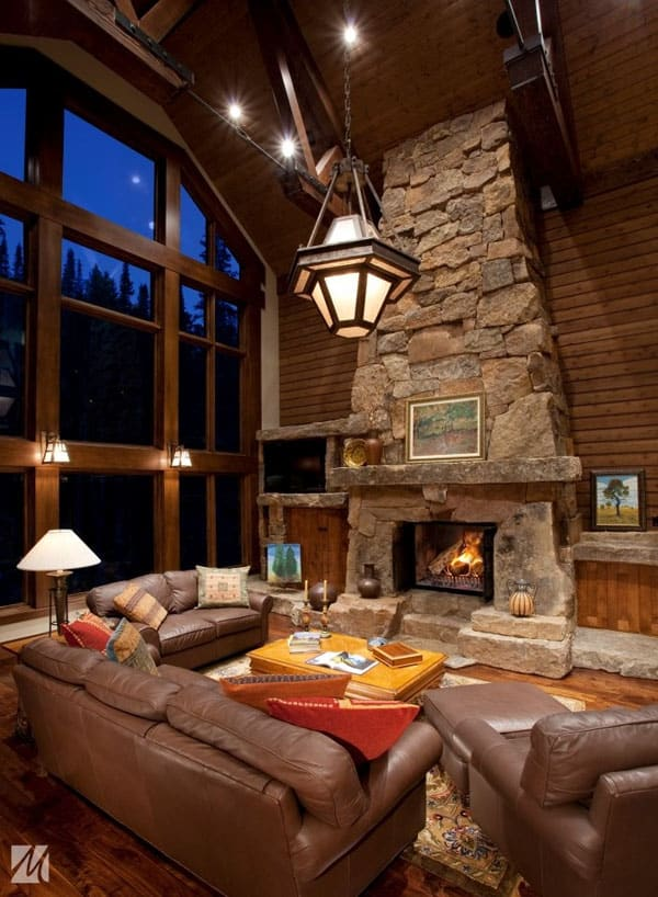 rustic cabin living room decorating ideas oak cabinets 47 extremely cozy and style rooms 34 1 kindesign