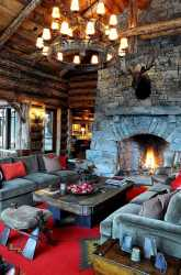 Cozy Rustic Cottage Living Room