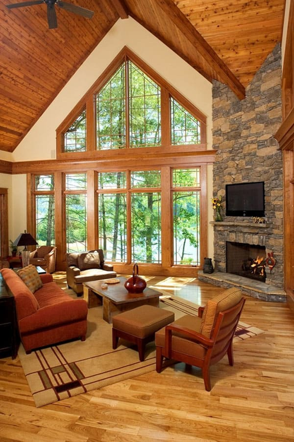 cabin style living room with sectional design ideas 47 extremely cozy and rustic rooms 38 1 kindesign