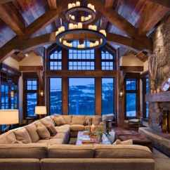 Cabin Living Room Decorating Ideas Small Open Kitchen Dining 47 Extremely Cozy And Rustic Style Rooms 42 1 Kindesign