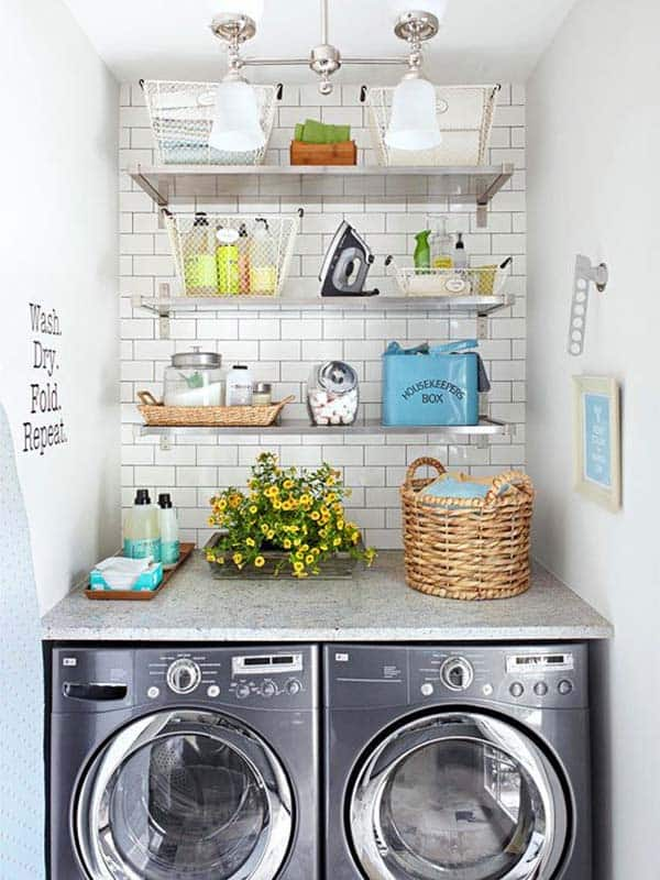 Small Laundry Room Design Ideas-02-1 Kindesign