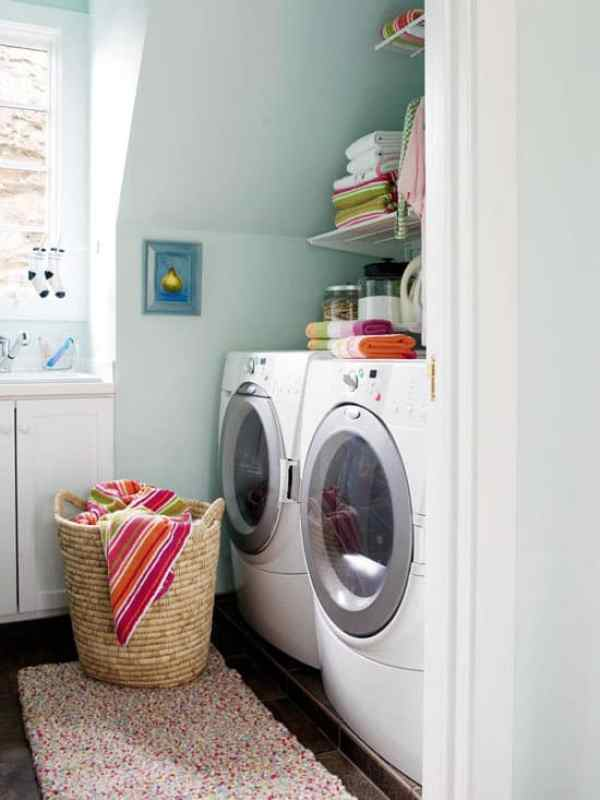 Small Laundry Room Design Ideas-09-1 Kindesign