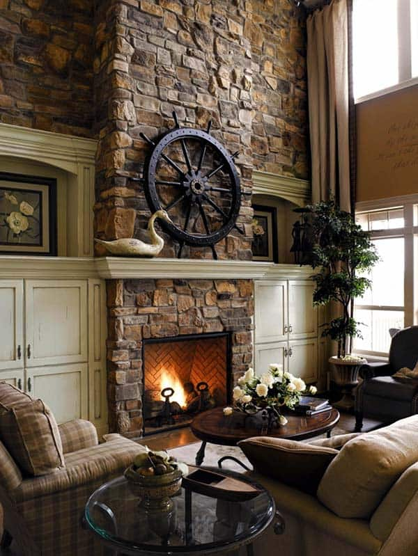 living room decorating ideas with stone fireplace corner cabinet 50 sensational fireplaces to warm your senses