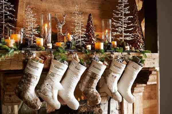Pottery Barn Christmas Mantel Decorating Ideas