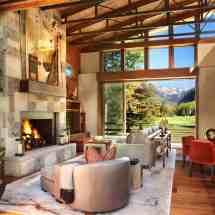 Interior Modern Rustic Mountain Homes Colorado