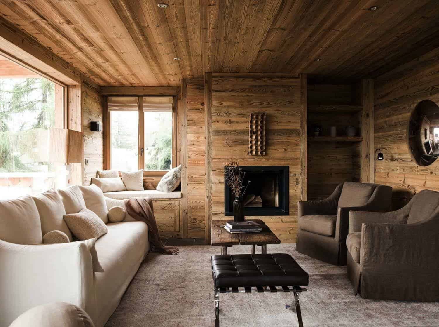 Rustic mountain chalet in Switzerland provides relaxed interiors