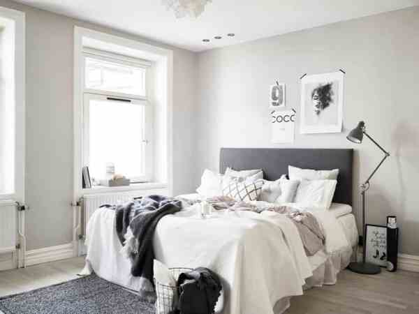 scandinavian bedroom design grey 45 Scandinavian bedroom ideas that are modern and stylish