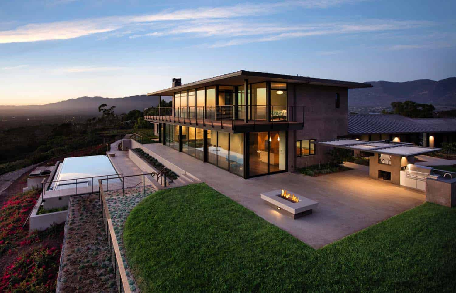 Contemporary hilltop home in California gets brilliant overhaul