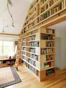 Floor to Ceiling Bookshelves Library with Ladders
