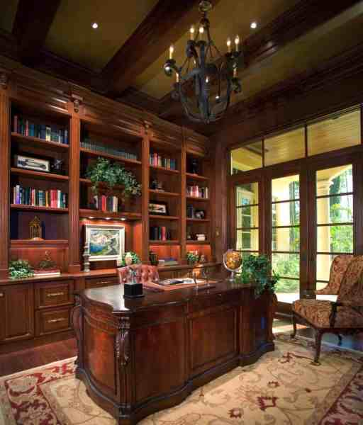 home office decorating ideas 28 Dreamy home offices with libraries for creative inspiration
