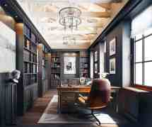 Dreamy Home Offices With Libraries Creative Inspiration