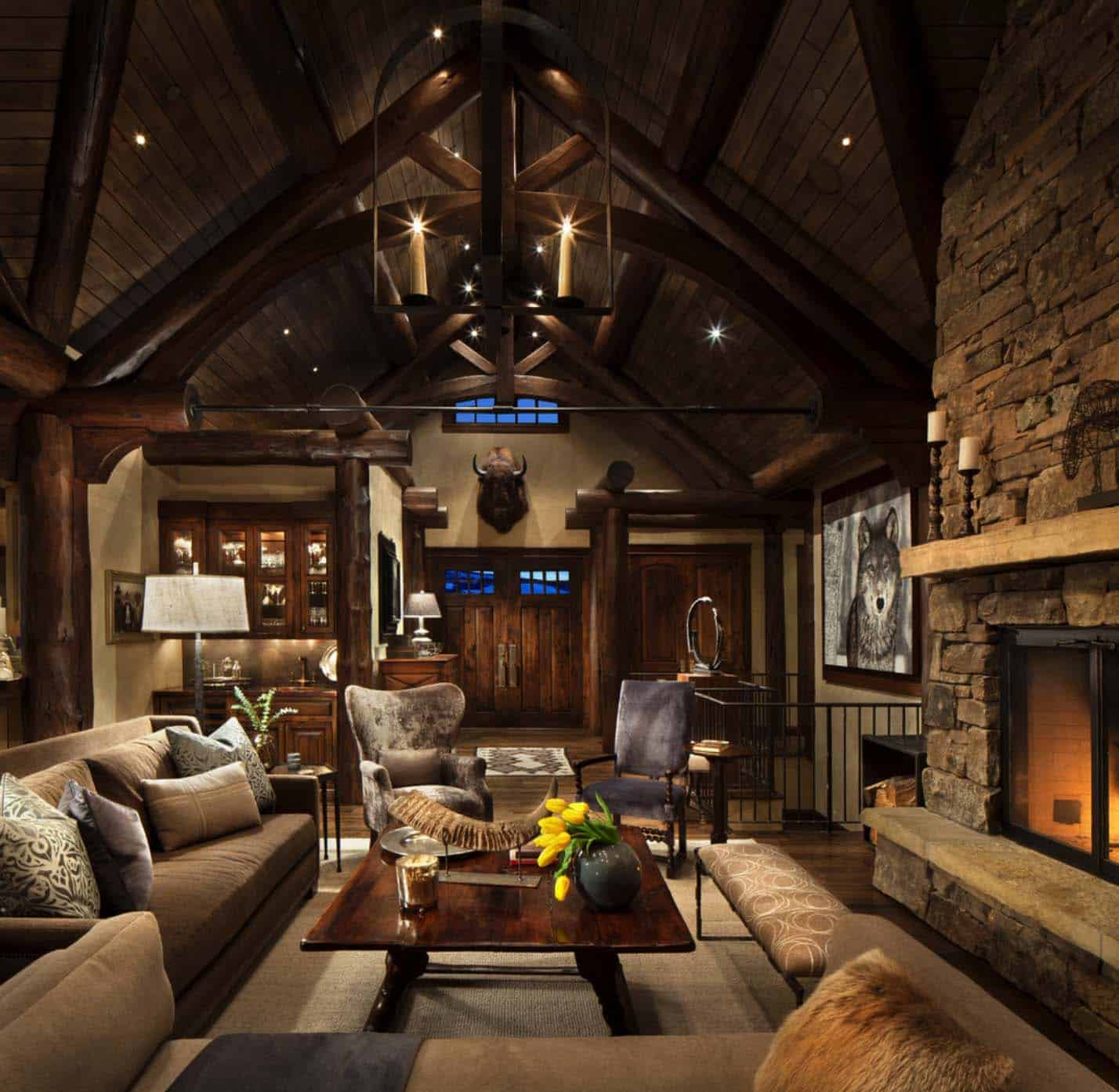 Exquisite mountain home remodel mixes rustic with modern