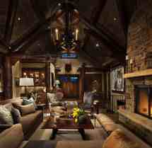 Rustic Mountain Home Living Rooms