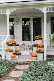 Farmhouse Front Porch Fall Decorating Ideas