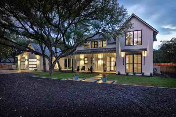 modernized texas farmhouse filled