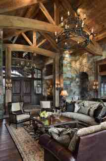 Rustic Mountain Home Interior Design Ideas