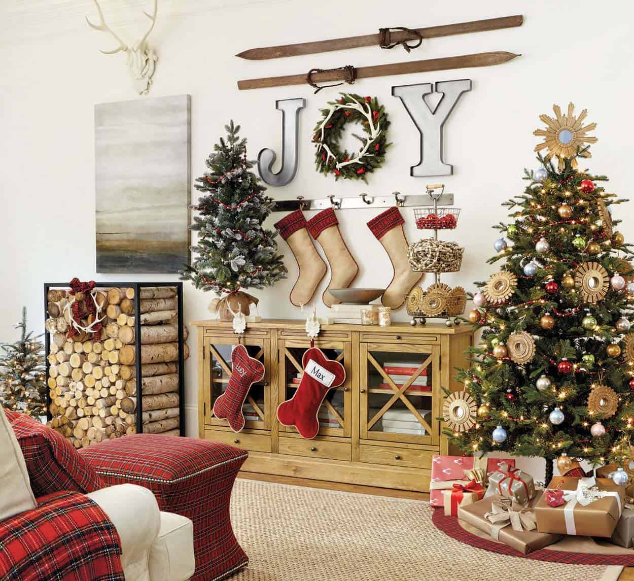 pictures of living room decorated for christmas the best colors 2017 40 fabulous rustic country decorating ideas decor 16 1 kindesign