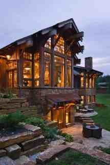 Striking Rustic Stone And Timber Dwelling In Ontario Canada