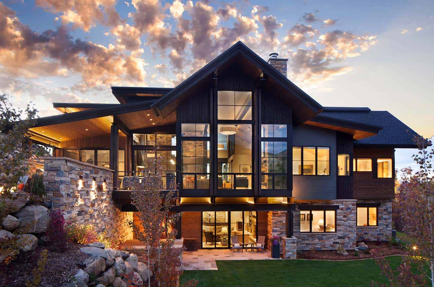 Best Kitchen Gallery: Breathtaking Contemporary Mountain Home In Steamboat Springs of Mountain Home Design  on rachelxblog.com