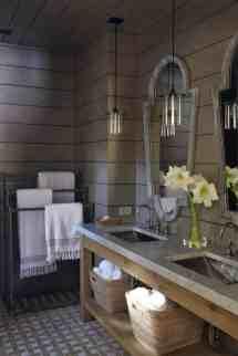 Rustic Taupe Bathroom