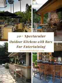 Spectacular Outdoor Kitchens With Bars Entertaining